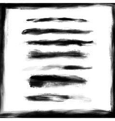 Splash frame and brush strokes design elements vector image