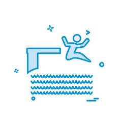 swimming icon design vector image