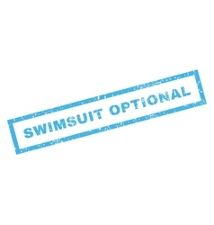 Swimsuit Optional Rubber Stamp vector