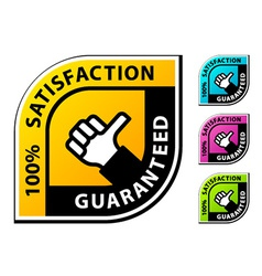 Thumb up satisfaction guaranteed labels vector