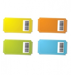 Ticket stub barcode vector