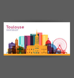 toulouse colorful architecture vector image