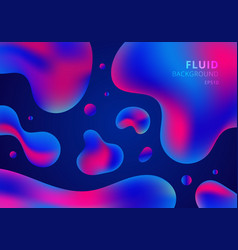 trendy fluid shapes composition colorful blue and vector image