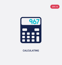 two color calculating icon from electronic stuff vector image