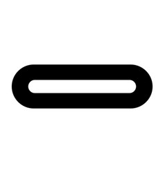 usb type c or usb 4 connector icon vector image