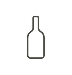 wine bottle icon outline alcohol line dri vector image