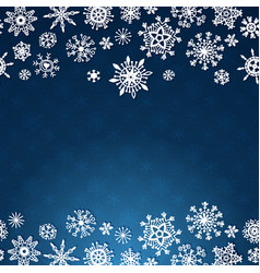 winter card with snowflakes on blue background vector image