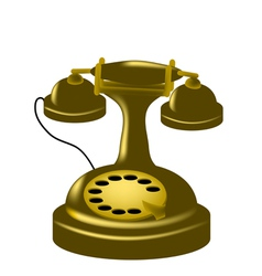antique phone vector image vector image