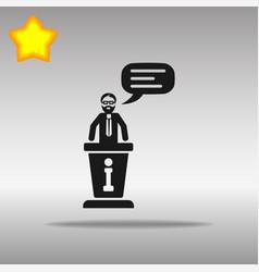 information desk black icon button logo symbol vector image vector image