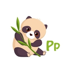 Panda Funny Alphabet Animal vector image