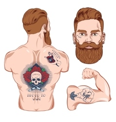 Tattooed Character Images vector image vector image