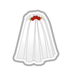 bride dress icon image vector image vector image