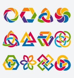 design elements abstract symbol set vector image vector image