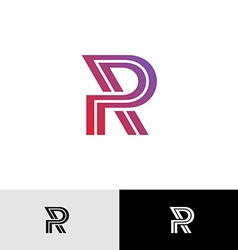 Letter R logo vector image vector image