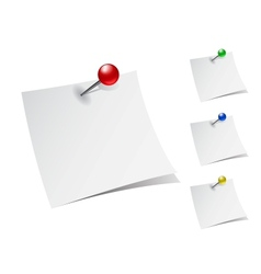 Note papers with push pins vector