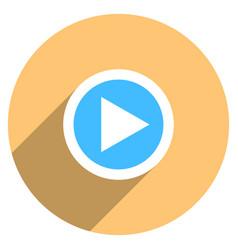 arrow sign play icon circle button vector image