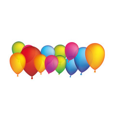colored party balloons icon vector image