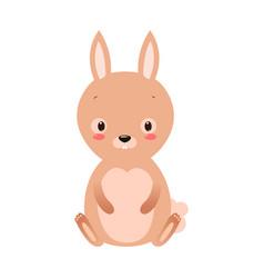 cute cartoon rabbit in flat style vector image