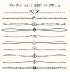Nautical Dividers Set vector image