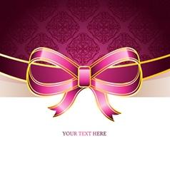 ribbon vintage bow vector image
