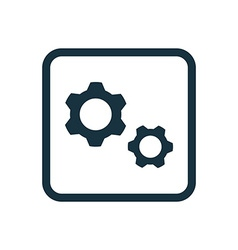 Settings icon Rounded squares button vector image vector image