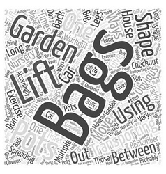 Using Gardening to Get in Shape Word Cloud Concept vector image vector image