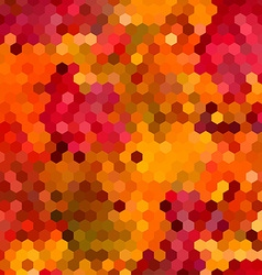 Abstract colorful honeycomb background design vector image