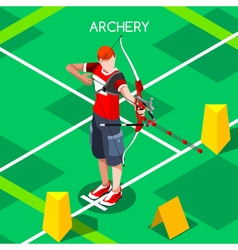 Archery 2016 Summer Games Isometric 3D vector image