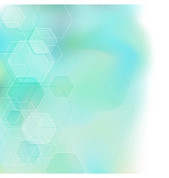 Bokeh abstract hexagon background vector image vector image