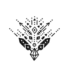 Hand drawn tribal sign vector image vector image
