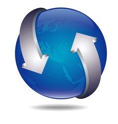 ico ball arrows vector image vector image