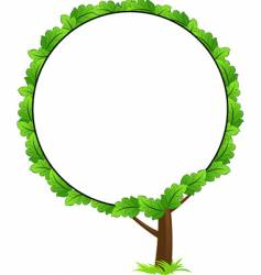 tree frame icon vector image vector image