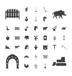 37 farm icons vector