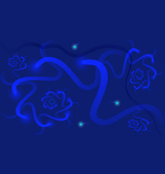 abstract dark blue background with luminous vector image