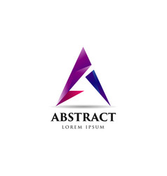 abstract purple a logo symbol vector image