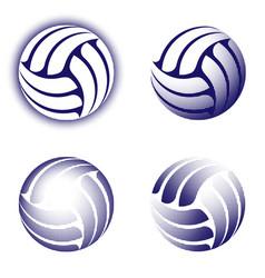 abstract volleyball halftone symbols set vector image