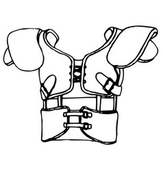american football body protection vector image