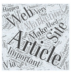 Article Marketing Is Important Word Cloud Concept vector