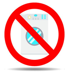 Ban wash machine vector image