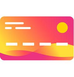 Bank credit debit or salary card icon vector
