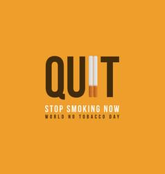 Banner stop smoking no tobacco day collection vector