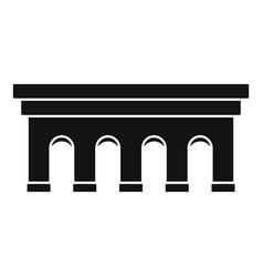 Beton bridge icon simple style vector