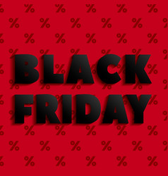 black friday offer concept background realistic vector image