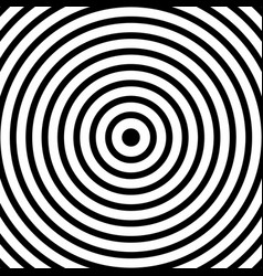 black psychedelic radial shapes on white vector image