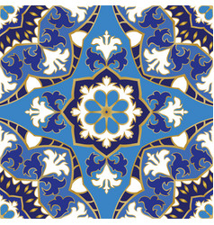 Blue pattern of mandalas vector
