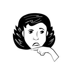 cartoon woman character posture line vector image