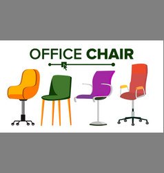 Chairs furniture set modern chair objects vector