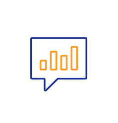 chart line icon report graph in speech bubble vector image