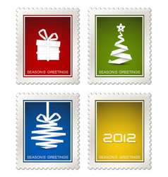 collection of modern postage stamps vector image
