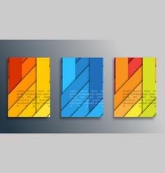 colored stripes design for wallpaper flyer vector image